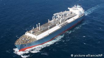 Прибытие в Клайпеду танкера с СПГ