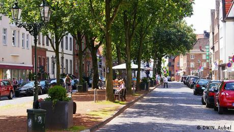 Bild von einer Allee im Sommer im Stadtteil Kaiserswerth.