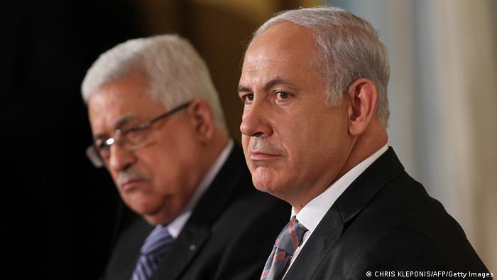 USA Mittlerer Osten Friedensgespräche Benjamin Netanyahu und Mahmoud Abbas