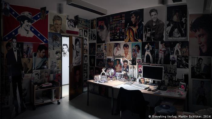 Кабинет, украшенный портретами Элвиса Пресли