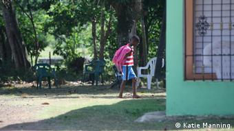 School kid returning home in Mata Limon, Dominican Republic