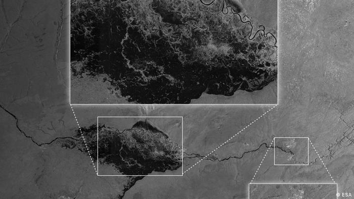 Bild des ESA-Satelits Sentinel-1A