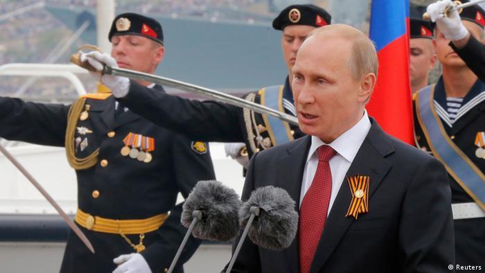 Володимир Путін виступає з нагоди параду на День Перемоги у Севастополі 9 травня 2014 року (фото з архіву)