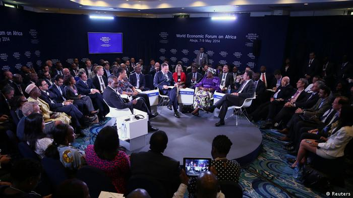 A discussion session at the World Economic Forum in Abuja