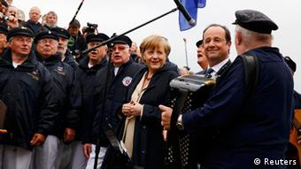 Merkel und Hollande in Sassnitz (Foto: Reuters)
