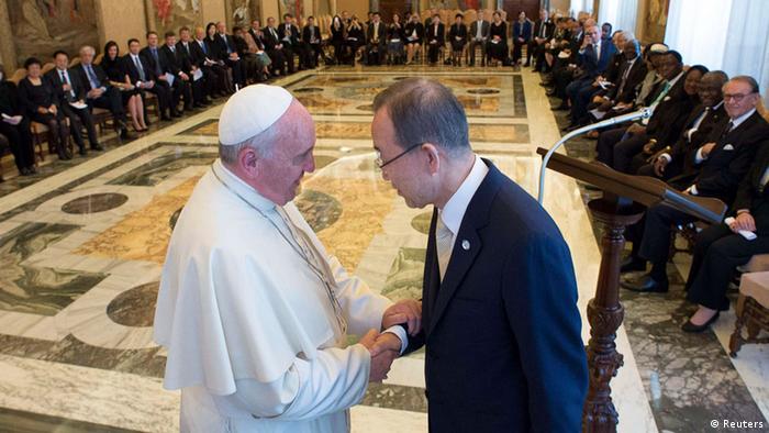 Pope Francis receives Ban Ki-moon