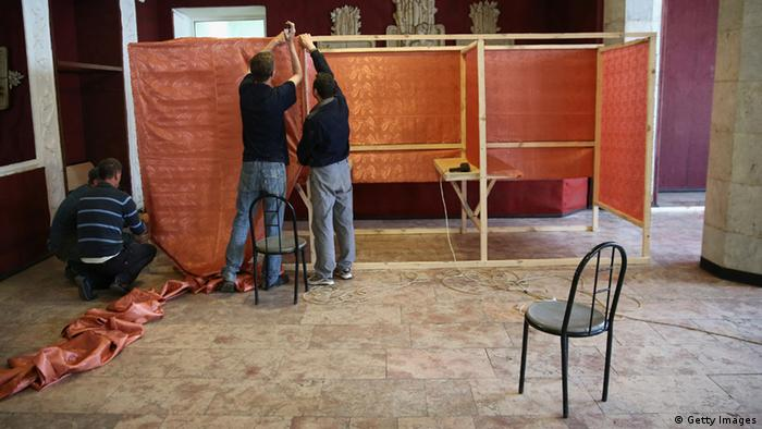 Vorbereitung Refrendum in Slowjansk
