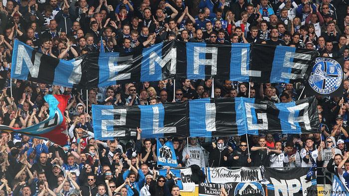 Fans von Hamburg SV Bundesliga FSV Mainz 05 vs. Hamburger SV