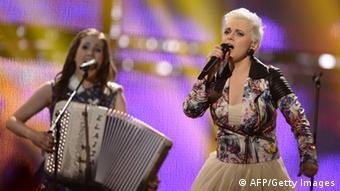 Elaiza performing at Eurovision