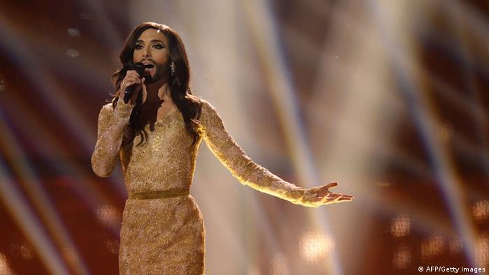 Кончиту Вурст в финале Евровидения в 2014 году