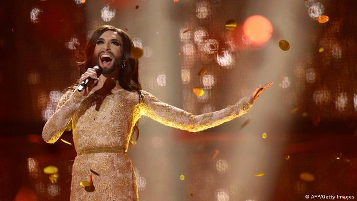 Conchita Wurst at the Eurovision Song Contest 2014 (AFP/Getty Images)