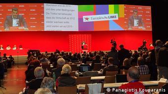 Ο Αλεξης Τσίπρας σε συνέδριο του κόμματος Η Αριστερά το 2014 στο Βερολίνο