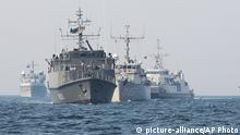 From left, Norwegian support vessel Valkyrien, Estonian mine-hunter Admiral Cowen, Dutch mine-hunter Makkum, Norwegian minesweeper Otra and Belgian mine-hunter Belis form a convoy during a NATO deployment in the Baltic Sea along the German Coast, Tuesday, April 22, 2014. The warships are part of the standing NATO Mine Counter-Measures Group ONE, one of NATO¿s four standing Maritime Forces, which deployed from Kiel, Germany, to the Baltic Sea to enhance maritime security and readiness in the region. The maritime Group was reactivated by a North Atlantic Council decision to enhance collective defense and assurance measures in response to the crisis in Ukraine. (AP Photo/Gero Breloer)From left, Norwegian support vessel Valkyrien, Estonian mine-hunter Admiral Cowen, Dutch mine-hunter Makkum, Norwegian minesweeper Otra and Belgian mine-hunter Belis form a convoy during a NATO deployment in the Baltic Sea along the German Coast, Tuesday, April 22, 2014. The warships are part of the standing NATO Mine Counter-Measures Group ONE, one of NATO¿s four standing Maritime Forces, which deployed from Kiel, Germany, to the Baltic Sea to enhance maritime security and readiness in the region. The maritime Group was reactivated by a North Atlantic Council decision to enhance collective defense and assurance measures in response to the crisis in Ukraine. (AP Photo/Gero Breloer)