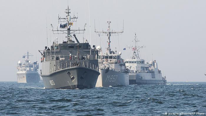 Кораблі Першої постійної протимінної групи НАТО в Балтійському морі