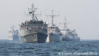 NATO Kriegsschiffe Baltische See Deutschland