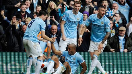 Fussball Manchester City vs West Ham United 11.05.2014