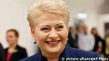 Litauen Präsidentschaftswahlen Dalia Grybauskaite