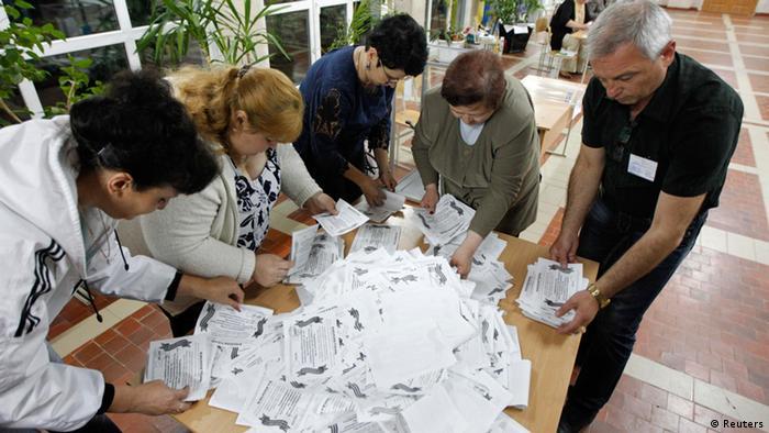 Ukraine Referendum Auszählung 11.5.