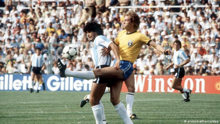 دوئل مارادونا و فالکائو، ملیپوش برزیل در جام جهانی ۱۹۸۲ اسپانیا