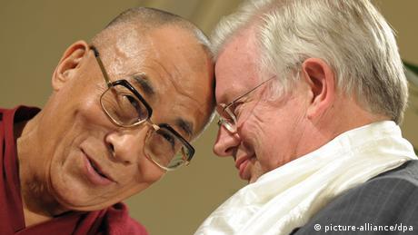 Dalai Lama and Roland Koch