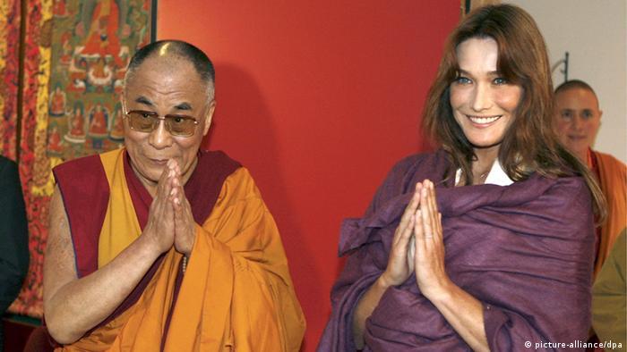 Frankreich Nepal China Dalai Lama bei Carla Bruni-Sarkozy