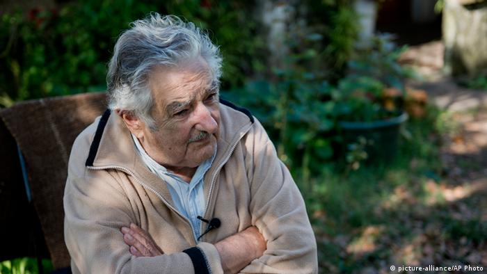 Jose Mujica Präsident Uruguay Marihuana Legalisierung (picture-alliance/AP Photo)