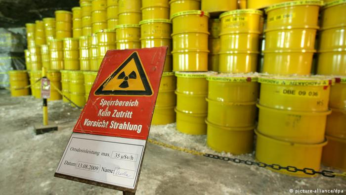 Several bins full of nuclear waste in Morsleben (picture-alliance/dpa)