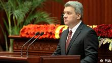 Bildbeschreibung: Gorge Ivanov, Präsident der Republik Mazedonien. (Quelle: Nachrichtenagentur MIA) Die Bilder sind von der mazedonischen Nachrichtenagentur MIA.