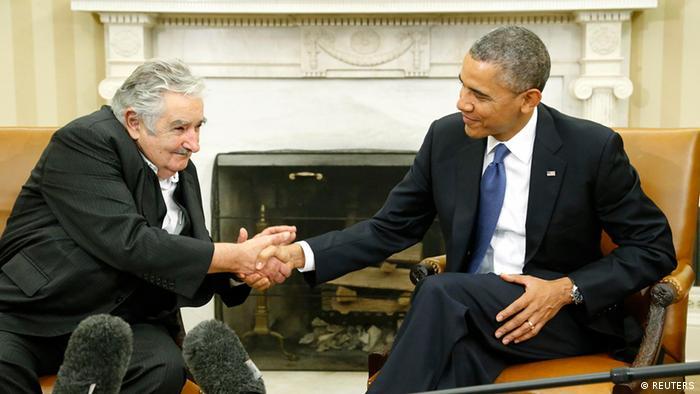 Jose Mujica Präsident Uruguay und Barack Obama