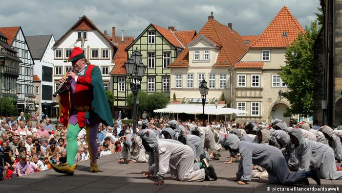 The Pied Piper in Hamelin