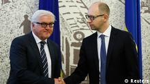 Steinmeier in Kiew mit Jazenjuk 13.05.2014