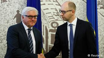 Frank-Walter Steinmeier in Kyiv and Arseniy Yatsenyuk