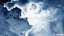 Antarktis Thwaites Gletscher Satellitenaufnahme