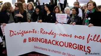 Kampagne bring back our girls Paris 13.05.2014