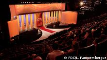 Grand Théâtre Lumière © FDC / L. Fauquembergue http://www.festival-cannes.fr/en/festivalServices/downloads.html ***Das Pressebild darf nur in Zusammenhang mit einer Berichterstattung über den Filmfestival Cannes 2014 verwendet werden***