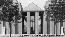 Aussenansicht Österreichisches Haus auf der Werkbundausstellung Köln 1914
