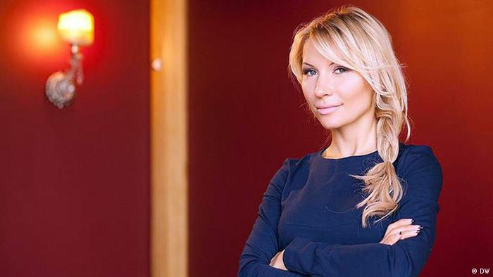Alena Popova auf dem Global Media Forum 2014