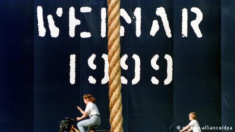 Cartaz destaca Weimar como capital cultural em 1999
