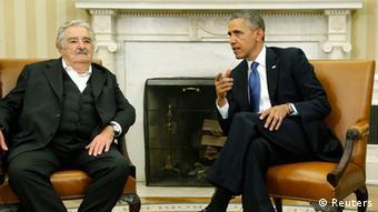 José Mujica und Barack Obama sprechen miteinander (Foto: Reuters)