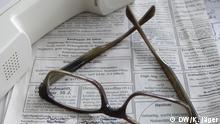 Stellenanzeige aus einer Tageszeitung: Darin sucht ein Rentner eine Tätigkeit (13.05.2014); Copyright: DW/K. Jäger