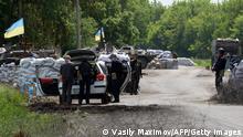 Checkpoint in der Ostukraine (bei Slavyansk)