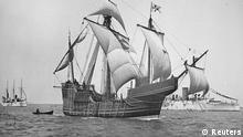 A replica of Christopher Columbus' caravel Santa Maria is shown in this circa 1892 handout photo provided by the United States Library on May 13, 2014. A shipwreck found off the north coast of Haiti could be the 500 year old remains of the Santa Maria, which led Columbus' famed voyage to the New World, according to a team of marine explorers. REUTERS/U.S. Library of Congress/Handout via Reuters (UNITED STATES - Tags: SOCIETY) ATTENTION EDITORS - FOR EDITORIAL USE ONLY. NOT FOR SALE FOR MARKETING OR ADVERTISING CAMPAIGNS. THIS IMAGE HAS BEEN SUPPLIED BY A THIRD PARTY. IT IS DISTRIBUTED, EXACTLY AS RECEIVED BY REUTERS, AS A SERVICE TO CLIENTS