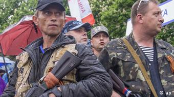 Ukraine separatists in Luhansk