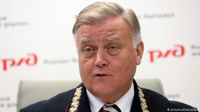 Vladimir Yakunin Chef der russischen Eisenbahn
