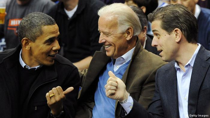 Barack Obama with Joe Biden and Hunter Biden