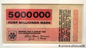 Bauhaus artist Herbert Bayer designed this bill during a period of inflation