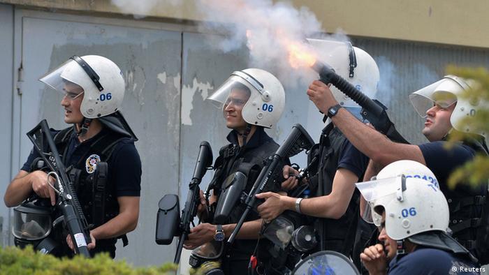 14 Mayıs 2014'te Ankara'da düzenlenen protestolara yapılan polis müdahalesi