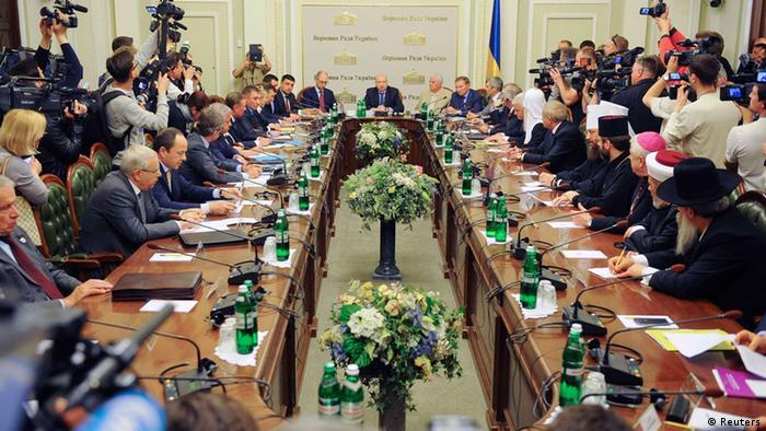 Kiev abri mesa redonda por la unidad nacional europa - Que es mesa redonda ...