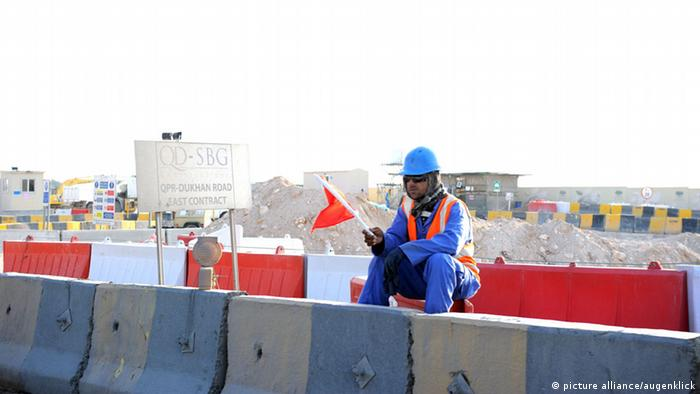 Katar Doha Arbeiter Baustelle