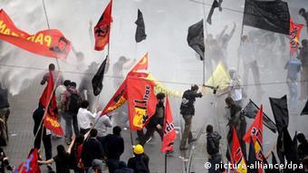 Türkei Soma Grubenunglück Protest Istanbul 14.05.2014